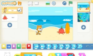 The ScratchJr app is on iPad, with Android to come