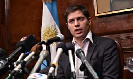 Argentina's Economy Minister Axel Kicillof in New York discussing the country's debt crisis.