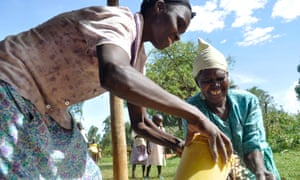 African farmer customer