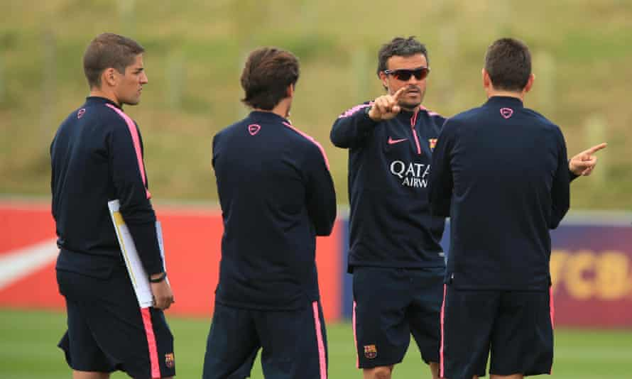 Barcelona manager Luis Enrique during the training session at St George's Park, Burton-Upon-Trent. PRESS ASSOCIATION Photo. Picture date: Thursday July 31, 2014. See PA story SOCCER Barcelona. Photo credit should read: Mike Egerton/PA Wire