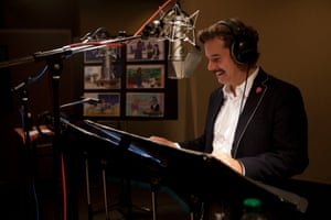 Paul F Tompkins records his part for Bojack Horseman.