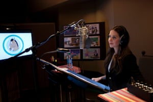 Alison Brie recording for her part.