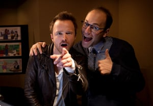Aaron Paul and Raphael Bob-Waksberg.