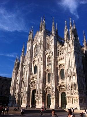'An evensong sky over Milan's Duomo.'