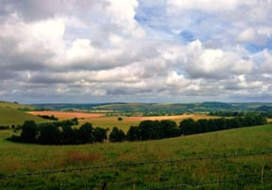 'The Bike Ride: Great countryside of the South Downs National Park.'