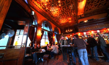 The interior of the Guildford Arms, Edinburgh