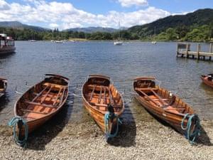 'Beached boats, Lake Windermere.'