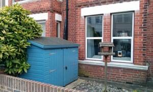 Bike shed in Brighton front garden