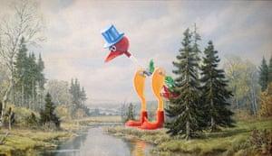David Irvine paintings: David Irvine upcycled thrift store paintings