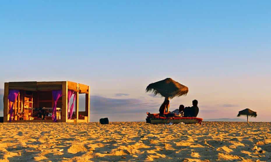 Beach at Zahara de los Atunes, southern Spain.