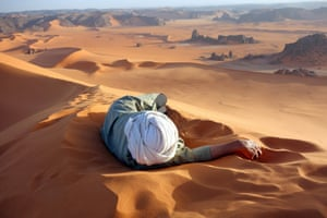 A well earned rest in the Sahara.