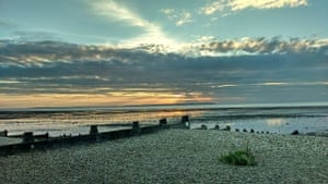 'Sunset over Whitstable at low tide.'