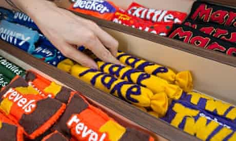 Sweets in felt newsagent
