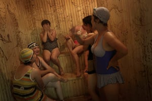 20 photos: North Korean women in a sauna