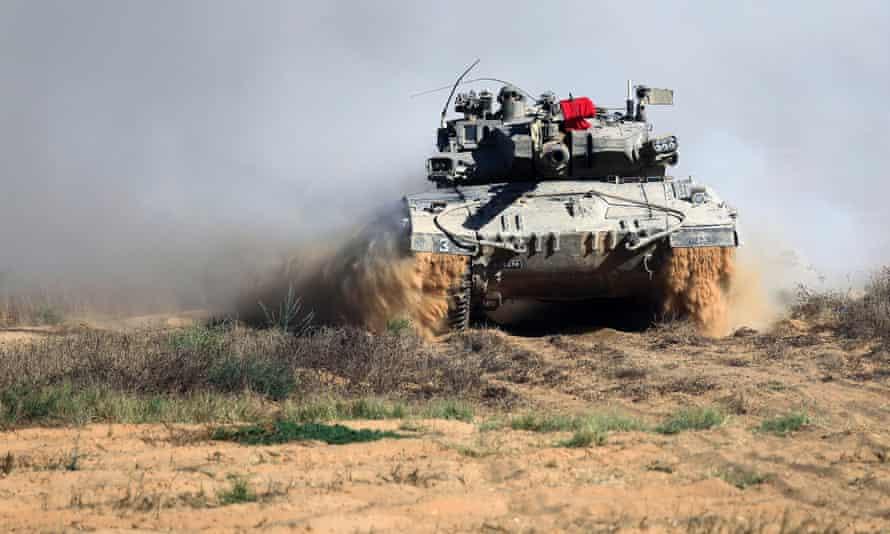 Israeli tank in Gaza