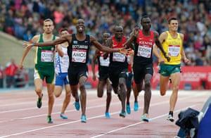Athletics at Ibrox: Nijel Amos wins gold
