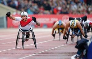 Athletics at Ibrox: David Weir celebrates