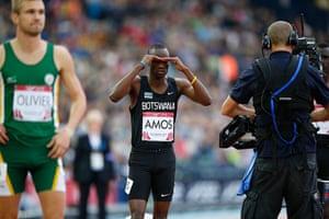 Athletics at Ibrox: Nijel Amo