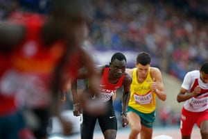 Athletics at Ibrox: David Rudisha of Kenya