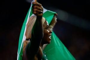 Athletics at Ibrox: Okapare savours the moment