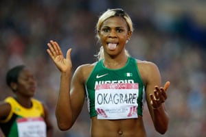 Athletics at Ibrox: Blessing Okagbare looks relieved