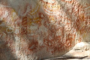 Rock art at the Art Gallery, Carnarvon Gorge
