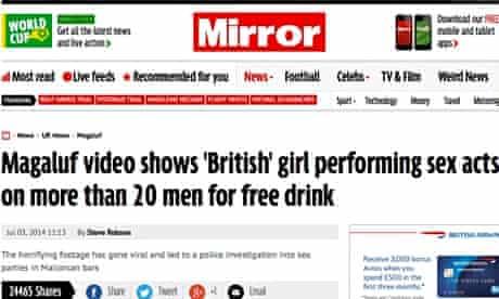 Daily Mirror sex video
