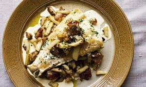 Nigel Slater's smoked haddock with potato and bacon