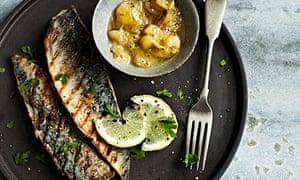 Darina Allen's pan-grilled summer mackerel with green gooseberry sauce