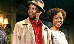 Denzel Washington and Sophie Okonedo in A Raisin in the Sun at New York's Barrymore Theatre