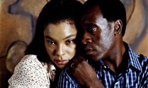 Sophie Okonedo and Don Cheadle in the 2004 film Hotel Rwanda
