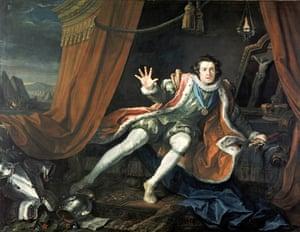 David Garrick as Richard III by William Hogarth c1745.