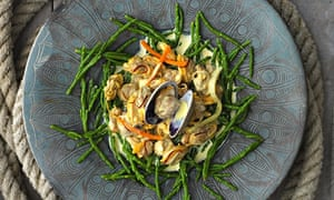 Jane Grigson's clams with samphire