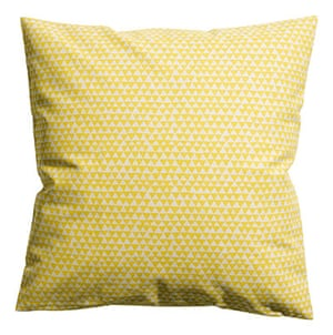 Outdoor eating: Cotton cushion cover, £3.99, hm.com
