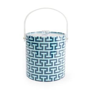 Outdoor eating: Mykonos striped ice bucket, £58, uk.jonathanadler.com