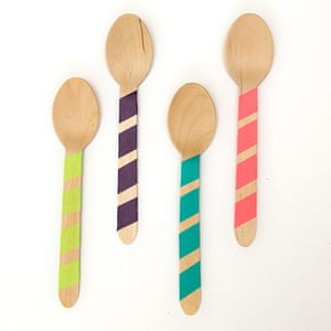 Outdoor eating: Wooden cutlery, £4, peachblossom.co.uk