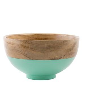 Outdoor eating: Colour dipped salad bowl, £20, tesco.com