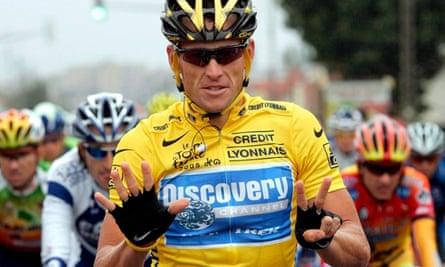 US cyclist Lance Armstrong