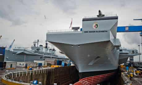 Queen Elizabeth II officially names aircraft carrier HMS Queen Elizabeth