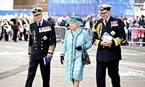 The Queen at the naming of HMS Queen Elizabeth