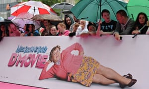 Fans wait in the rain at the Mrs Brown's Boys D'Movie premiere
