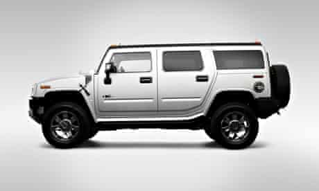 2009 Hummer H2 Limited Edition in Silver - Drivers Side Profile. Image shot 2008.