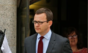 Andy Coulson leaving court