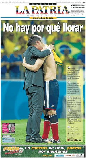 La Patria front page