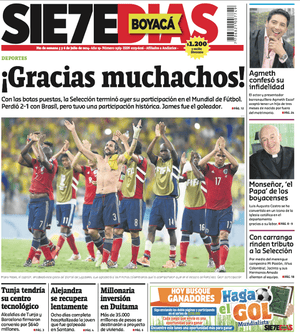 SieteDias front page