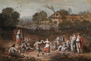 art detectives: Zucca Francesco Zuccarelli landscape with figures dancing, courting