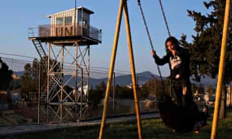 Children play in Turkish Cypriot Nicosia Cyprus