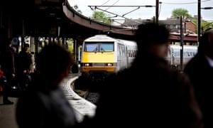 East Coast trains at York Station.  East Coast trains at York Station.