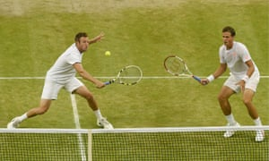 Jack Sock, left, and Vasek Pospisil proved too strong for the Bryan brothers in the men's doubles