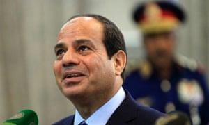 Abdel Fatah al-Sisi: first admission trial was damaging.